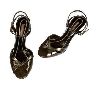 Antonio Melani Bronze Strappy Heels 👠